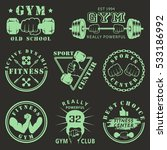 fitness gym icons   Shutterstock .eps vector #533186992