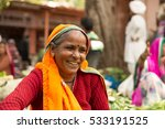 indian woman in a local market... | Shutterstock . vector #533191525