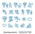 collection icons of  family  ... | Shutterstock .eps vector #533191735