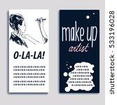 woman visagist makeup artist... | Shutterstock .eps vector #533196028