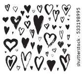 abstract  heart ink set | Shutterstock .eps vector #533198995