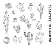 cactus succulent set | Shutterstock . vector #533199172