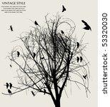 tree and bird | Shutterstock .eps vector #53320030
