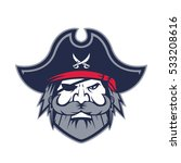 pirate head mascot   Shutterstock .eps vector #533208616