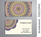 business card. vintage... | Shutterstock .eps vector #533215942