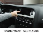 man pushes a button in the car | Shutterstock . vector #533216908