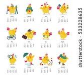 new year and christmas calendar ...   Shutterstock .eps vector #533228635