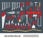 working tools set. repair and...   Shutterstock .eps vector #533232052