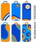 blue  orange and white vector... | Shutterstock .eps vector #53323342