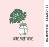 hand drawn tropical house plant.... | Shutterstock .eps vector #533250466