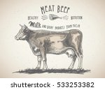 cow in graphic style  and... | Shutterstock .eps vector #533253382