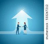 business concept vector... | Shutterstock .eps vector #533267212