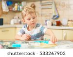 little blond kid plays with... | Shutterstock . vector #533267902