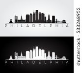 philadelphia usa skyline and... | Shutterstock .eps vector #533268952