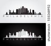 philadelphia usa skyline and... | Shutterstock .eps vector #533268952