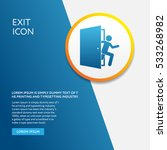 info board with exit icon... | Shutterstock .eps vector #533268982