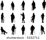 old man silhouettes | Shutterstock .eps vector #5332711
