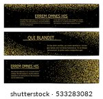 horizontal black and gold... | Shutterstock .eps vector #533283082