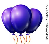 realistic blue balloons with... | Shutterstock .eps vector #533294272