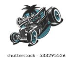 classic american hot rod... | Shutterstock .eps vector #533295526