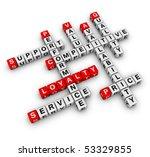 Customer Loyalty (cubes crossword series) - stock photo