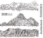 mountains ranges. set. nature... | Shutterstock .eps vector #533302822