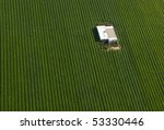 aerial view of green carrot... | Shutterstock . vector #53330446