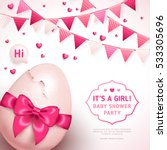 it's a girl baby shower concept ... | Shutterstock .eps vector #533305696