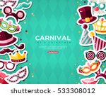 carnival banner with flat... | Shutterstock .eps vector #533308012