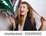close up fashionable portrait... | Shutterstock . vector #533309332