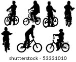 drawing bicycle children races... | Shutterstock . vector #53331010