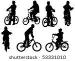 drawing bicycle children races... | Shutterstock . vector #53331010