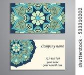 business card. vintage... | Shutterstock .eps vector #533310202