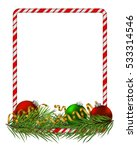 blank christmas border  candy... | Shutterstock .eps vector #533314546