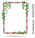 blank christmas border  candy... | Shutterstock .eps vector #533314552