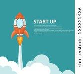 rocket launcher start up  ...   Shutterstock .eps vector #533325436
