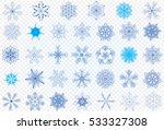 set vector snowflakes on a...   Shutterstock .eps vector #533327308