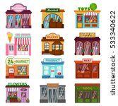 shop facade vector set... | Shutterstock .eps vector #533340622