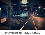 dark urban downtown city train... | Shutterstock . vector #533343532