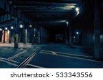 Dark Urban Downtown City Train...