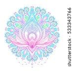 mandala. beautiful vintage... | Shutterstock .eps vector #533343766