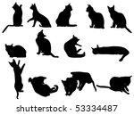 Stock vector little kittens 53334487