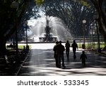 Silhouette Of Family Walking T...