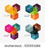 set of business hexagon layouts ... | Shutterstock .eps vector #533351686