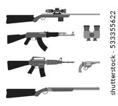 modern weapons set. flat style... | Shutterstock .eps vector #533355622