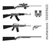modern weapons set. flat style...   Shutterstock .eps vector #533355622