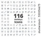 Holidays Icon Line