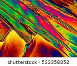 crystals seen in a microscope... | Shutterstock . vector #533358352