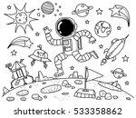 astronaut in the space doodle | Shutterstock .eps vector #533358862