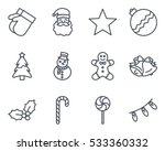 christmas icon line | Shutterstock .eps vector #533360332